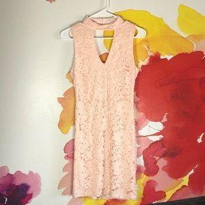 B Darlin Pink Lace Dress